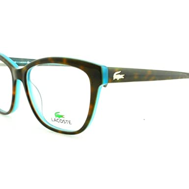 LACOSTE Eyeglasses L2723 220 Green Havana/Azure 53MM at Amazon Men\'s ...