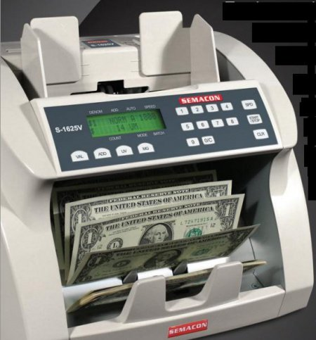 (Semacon S-1615 Series 1600 Premium Ultra High Speed Bank Grade Currency Counter with UV Detection, SmartFeed Technology, Up to 1800 Notes Per Minute)