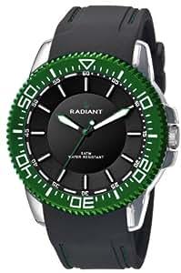 Radiant New RA158604–Reloj de pulsera de hombre, correa de silicona color negro