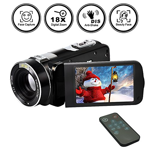 Camcorder Digital Camera Video Recorder FHD 1080p 24MP Beauty Face Camera HDMI Output With Remote Control (Lens Controller Zoom)
