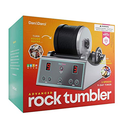 Advanced Professional Rock Tumbler Kit - with Digital 9-day timer and 3-speed settings - Turn Rough Rocks into Beautiful Gems | Great Science Kit & STEM Gift for all ages | Study Geology & Mineralogy by Dan&Darci (Image #5)