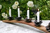 Old River Road Wine Stave Candle Holder, Holds Five Candles