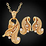 GDSTAR Bridal Jewelry Sets Earrings 18K Gold Plated intage cystal Gold earrings