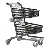 Advance Carts 105px-Bs-S XPress Series 105px Shopping Cart, Plastic, Black Powder Coat, 105 L