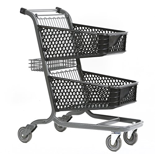 Advance Carts 105px-Bs-S XPress Series 105px Shopping Cart, Plastic, Black Powder Coat, 105 L by Advance Carts