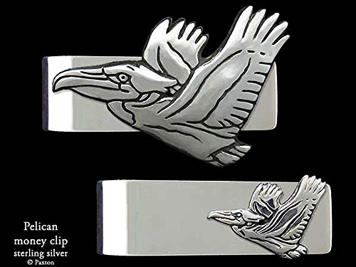 Pelican Money Clip in Solid Sterling Silver Hand Carved, Cast & Fabricated by Paxton by Paxton Jewelry