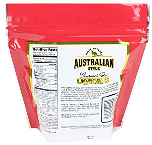 Wiley Wallaby Australian Gourmet Style Red Licorice Candy 32 Oz. 2 LB (Limited Edition) by Wiley Wallaby