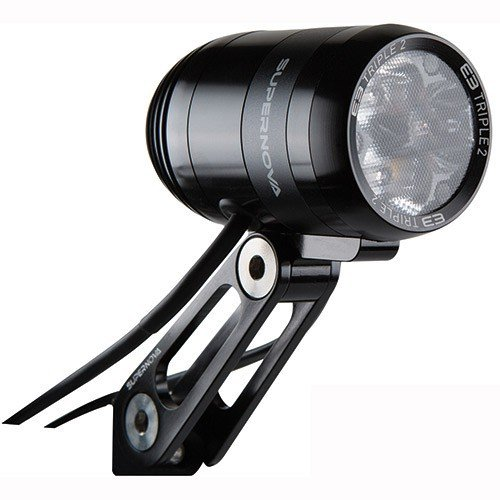 Supernova E3 Triple 2 Dynamo Headlight: Black by Supernova