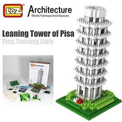 LOZ Leaning Tower of Pisa Italy Diamond Blocks Architecture Nano Mini Bricks Toy