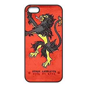 lanister logo games of thrones logo iPhone 5 5s Cell Phone Case Black MSY196273AEW