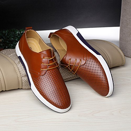3da2ecfb0f196 Summer Style SFE Men's Summer Breathable Business Leisure Hollow Solid  Leather Shoes