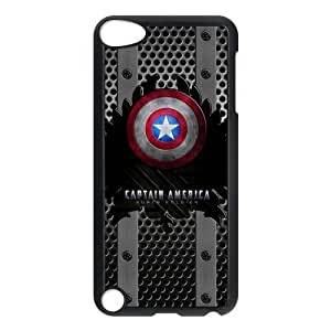 LeonardCustom- Captain America Hardshell Slim Cover Case for iPod Touch 5 (5th Generation) -LCP5U394