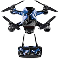 Skin for DJI Spark Mini Drone Combo - Blue Roses| MightySkins Protective, Durable, and Unique Vinyl Decal wrap cover | Easy To Apply, Remove, and Change Styles | Made in the USA