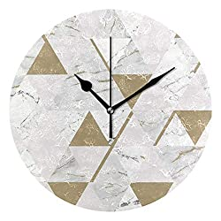 Crystal Chesterton 10 House of Onyx Marble Decorative Round Wall Clock