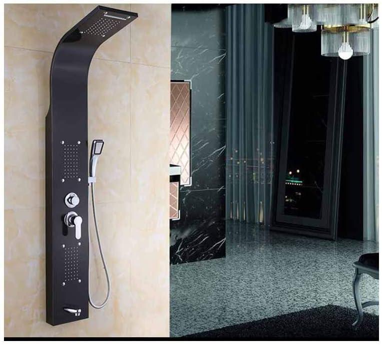 Cabeza de Ducha Juego de ducha inteligente de 5 modos de mampara de ducha de acero inoxidable para el hogar, negro: Amazon.es: Bricolaje y herramientas