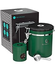 Coffee Gator Flavor-Saving Canister - With Date Tracker, CO2-release Valve and Scoop - Medium