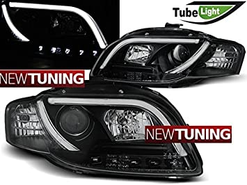 Faros delantero Audi a4 b7 11.04 - 03.08 Tubo LED Lights Negro: Amazon.es: Coche y moto