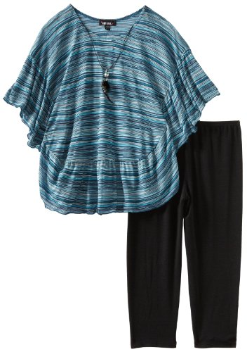 Amy Byer Big Girls' Plus-Size Poncho Legging Set