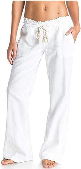 VITryst Womens Long Pants Solid Waistband Stretchy Highwaist Leg Pants