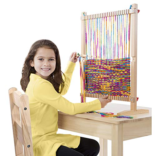 "51WIF2yuMrL - Melissa & Doug Wooden Multi-Craft Weaving Loom, Arts & Crafts, Extra-Large Frame, Develops Creativity and Motor Skills, 16.5"" H x 22.75"" W x 9.5"" L"