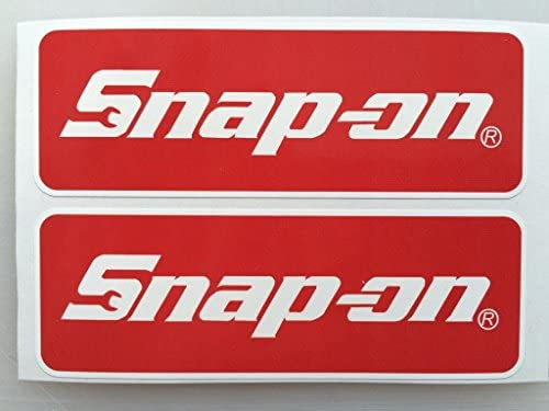 2 Snap-On Tools Badge Die Cut Decals