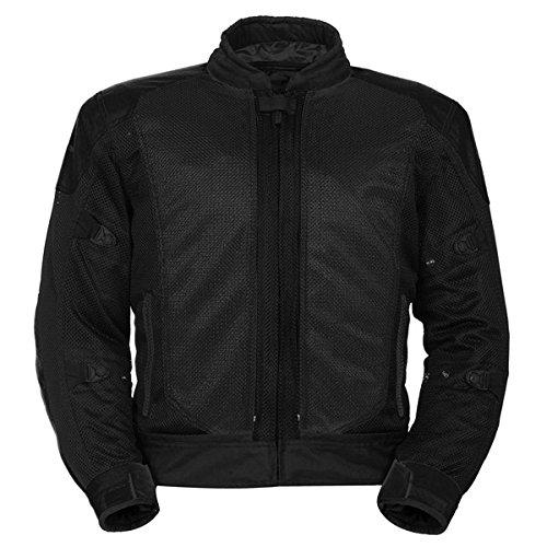 - TourMaster Flex Series 3 Men's Convertible Textile Armored Motorcycle Jacket (Black, Medium)