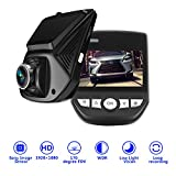 , Oxygentle W2 WiFi Dash Cam with Night Vision , Camera Recorder with Sony Exmor Sensor, 2.45″ LCD, 170 Degree Wide Angle, FHD 1080P, WDR, Night Vision, G-Sensor, Parking Guard, Loop Recording, Bulit-in Wifi