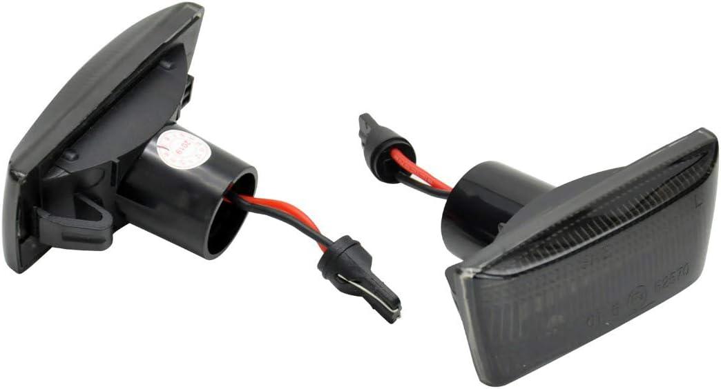 . clignotants lat/éraux LED, teint/és Clignotants lat/éraux LED dynamiques avec marque de contr/ôle E StVO de qualit/é OEM