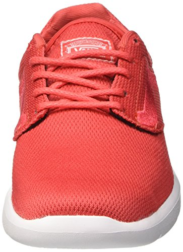 Vans ISO 1.5 Plus - Scarpe da Ginnastica Basse Unisex – Adulto Rosso (Mesh/Cayenne)