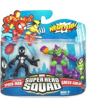 Super Hero Squad 21: Black Costume Spider-Man & Green Goblin (The Amazing Spider Man 2 Green Goblin Costume)
