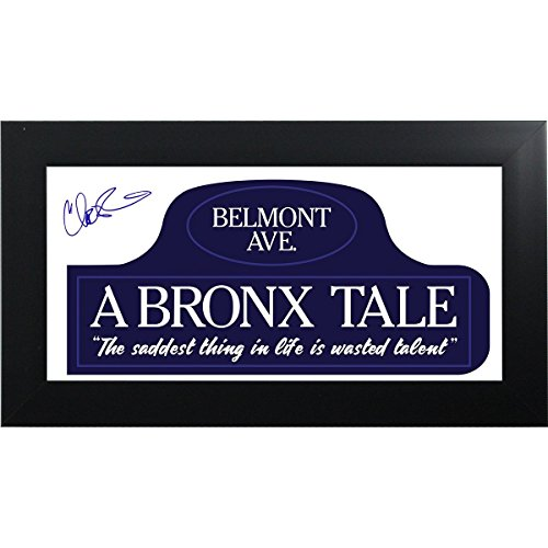 Chazz Palminteri Signed A Bronx Tale Street Sign With