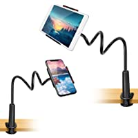 Phone Holder for Desk, Bed, Table, Video Recording. Gooseneck Cell Phone Stand, iPhone Stand, Desk Phone Mount for…