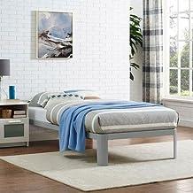 LexMod MOD-5467-GRY Corinne Twin Bed Frame, Gray