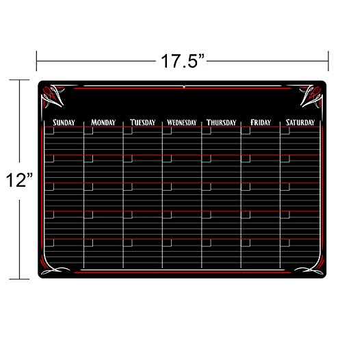 PVC Dry Erase Monthly Magnetic Calendar with - No Stain Technology. Photo #6