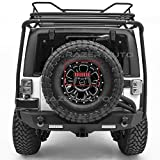 Razer Auto Wrangler Rock Crawler 3rd Brake Taillight Tail LED light w/Rear Spare Tire Bracket Mount (Black) for 07-17 Jeep JK