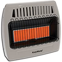 Kozy World KWP524 30000 Btu 5 Plaque Propane Infrared Vent Free Wall Heater