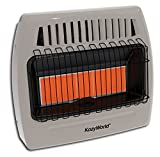 natural gas heater kozy - Kozy World KWN523 30000 BTU 5 Plaque Natural Gas Infrared Vent Free Wall Heater, Gray
