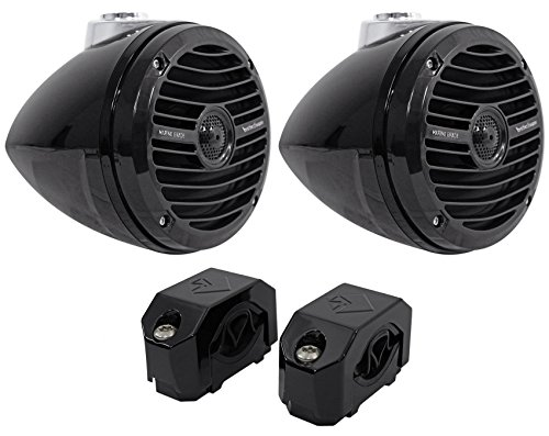 "Package: Pair of Rockford Fosgate RM1652W-MB 6.5"" Mini Wakeb"