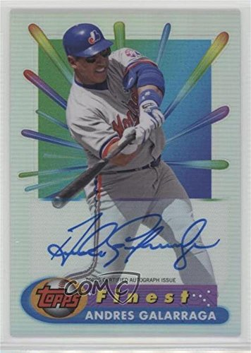 Andres Galarraga (Baseball Card) 2017 Topps Finest - 1994-95 Finest Basketball Recreates - Autographs [Autographed] #BRA-AG