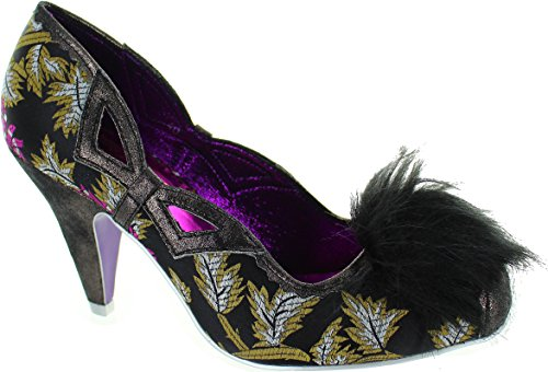 Irregular Choice Pamela Pom Pom, Scarpe col tacco donna nero Black