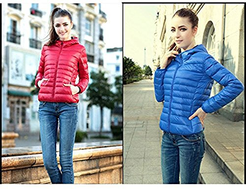 Down Winter Flyhigh Women's Jacket Blue Puffer Hooded tqB1Bxpv