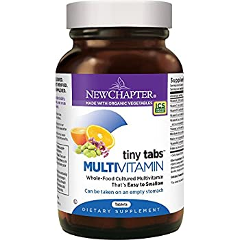 New Chapter Tiny Tabs Multivitamin with Fermented Priobiotics + Whole Foods + Vitamin D3 + B Vitamins + Organic Non-GMO Ingredients 192 ct
