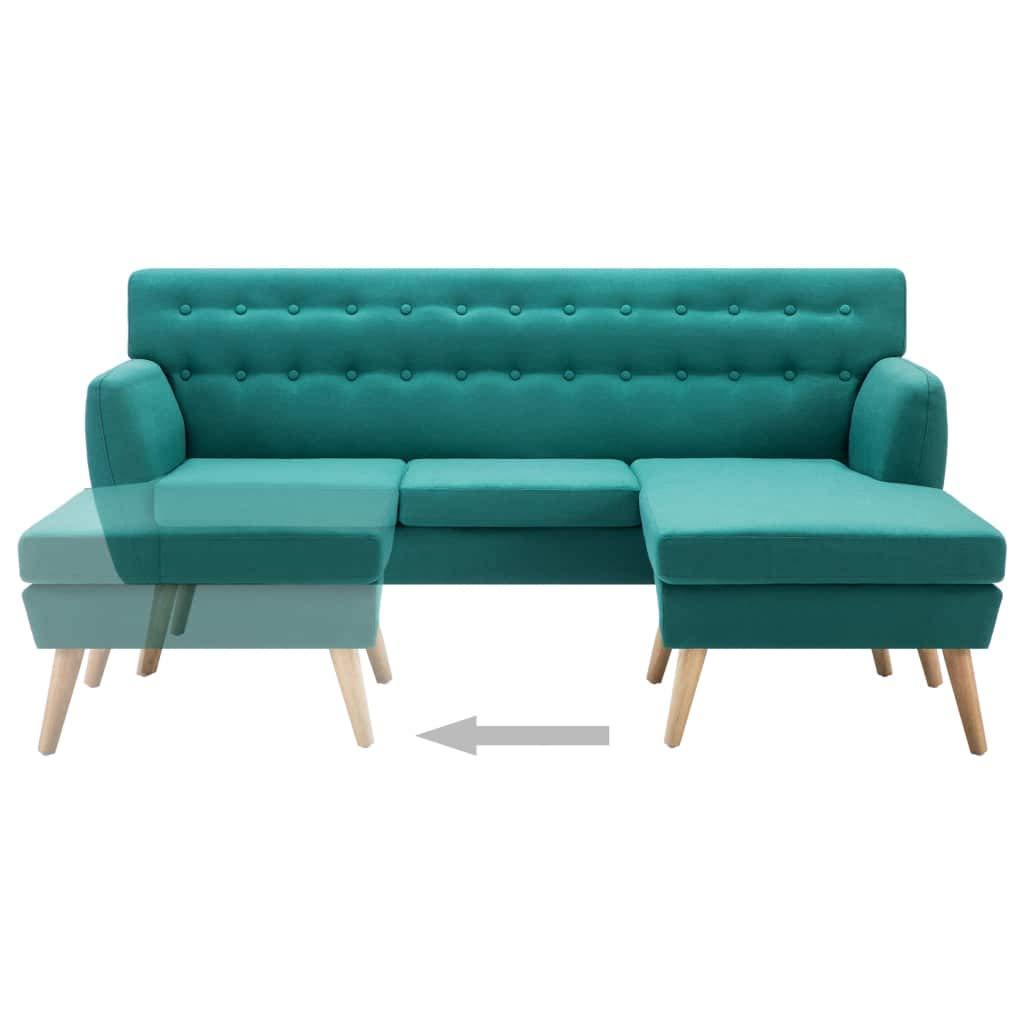 FESTNIGHT Sillas Salon Sofá Forma de L Tapizado de Tela ...