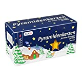 50 Honey 14mm diameter German Christmas Pyramid Candles Made in Germany