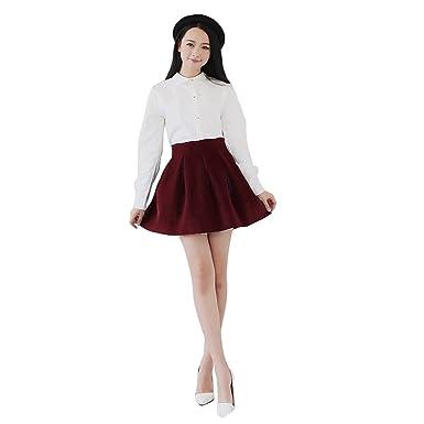 b70438fbc1569 JNTworld Sexy School Girl High-Waisted Slim Fit Pleated Mini Flared ...