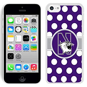 Beautiful And Popular Designed With Ncaa Big Ten Conference Football North Western Wildcats 3 Protective Cell Phone Hardshell Cover Case For iPhone 5C Phone Case Black
