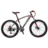 X1 Mountain Bikes 21 Speed MTB Bicycle 26 Inch Wheels Suspension Fork MTB Bicycle 2018 Black-red For Sale