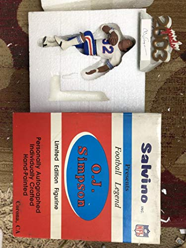 1991 Salvino Collection Football O.J. Simpson OJ NFL Buffalo Bills AUTO SIGNED Autograph Figurine Statue