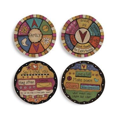 - Table Talk Family Values Melamine Snack Plates Set of 4