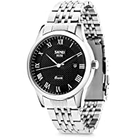 Men's Quartz Analog Watches, Aposon Classic Business Casual Roman Numeral Wrist Watch Dress Waterproof Watch with Stainless Steel Band